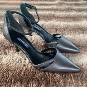 Charles David Astrid Pewter Leather Pumps